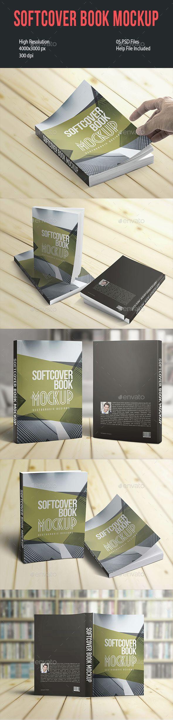 Softcover Book Mockup - Books Print | Download http://graphicriver.net/item/softcover-book-mockup/14599990?ref=sinzo