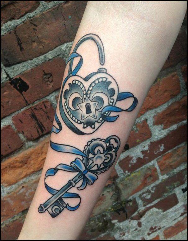 Heart Shaped Key TattooTattoo Themes Idea | Tattoo Themes Idea