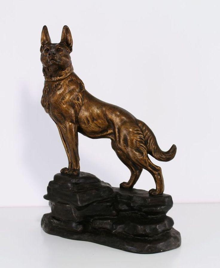 """Escultura em bronze figura """"Cão"""""""