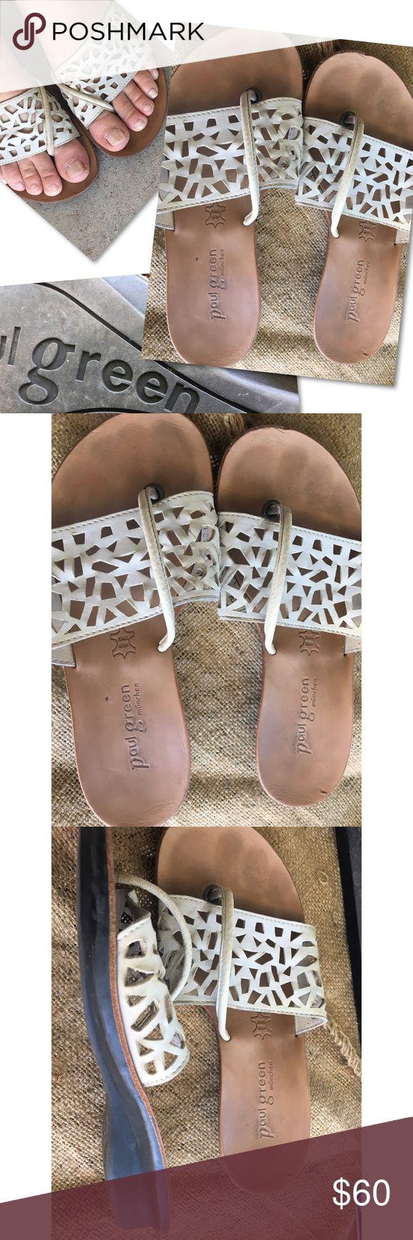 PAUL GREEN WHITE LAZER CUT SHOES SANDALS EURO PAUL GREEN WHITE LAZER CUT SHOES SANDALS EURO SZ 2.5 / US SZ 5 Paul Green Shoes Sandals