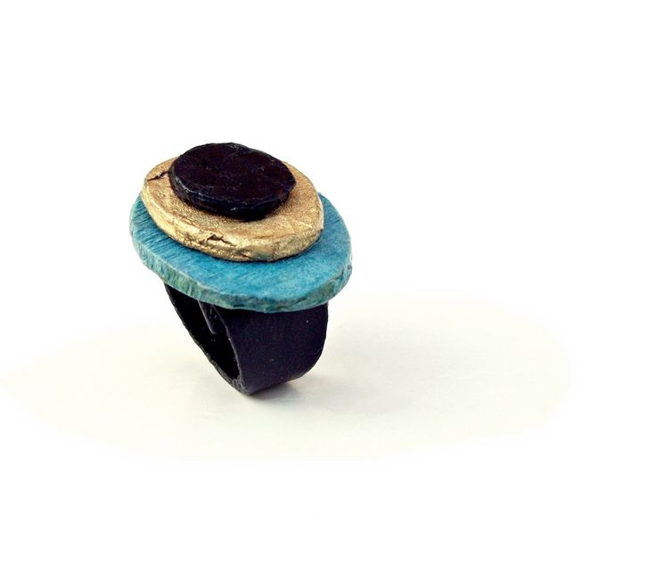 stones teal - ring