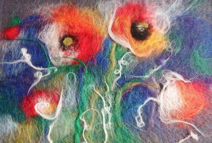 Needle Felting; Flowers; Portraits