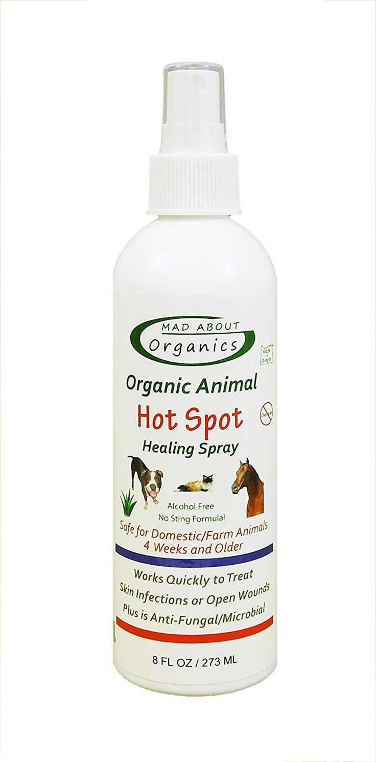 Mad About Organics All Natural Dog Cat Pet Hot Spot Herbal Healing Spray 8oz * Continue to the product at the image link.