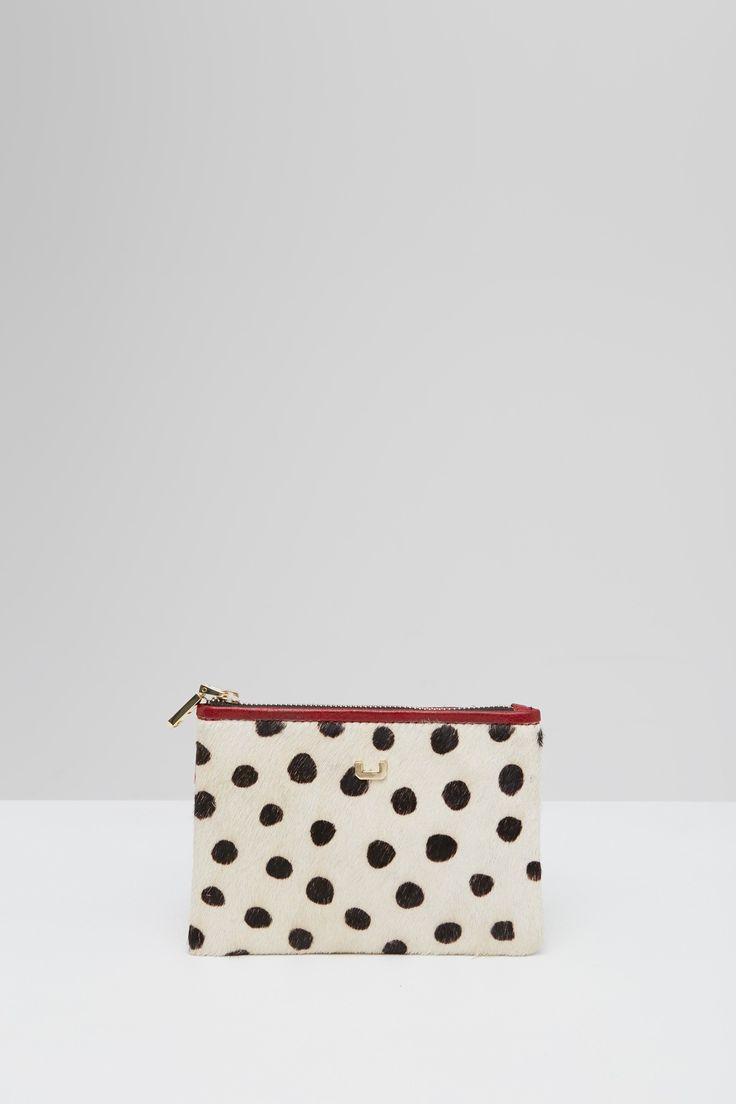Cartera guepardo con cremallera | Adolfo Dominguez shop online