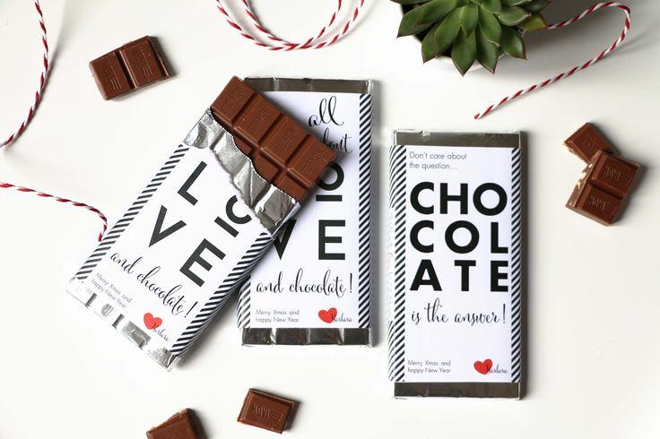 DIY | Greeting chocolate bars