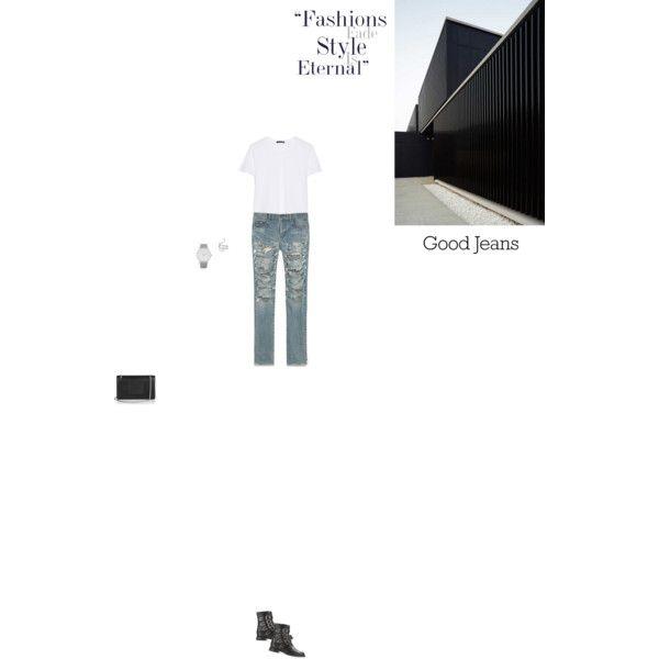 Bez tytułu #88 by izabelmaz on Polyvore featuring moda, rag & bone, Yves Saint Laurent, Larsson & Jennings and Ileana Makri