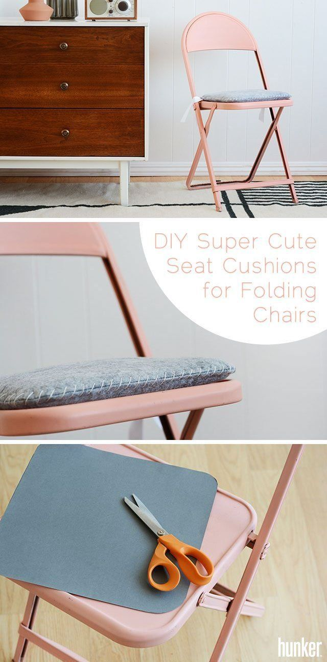 Cute Folding Chairs How To Make Super Cute Seat Cushions For Folding Chairs For A