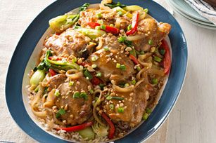 Kraft Foods - Baked Asian Chicken Thighs - I used chicken breast tenders instead & cooked it all on a skillet. Easy to make & delicious!! It's a keeper!!