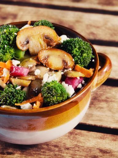 Salade d automne aux champignons sautés