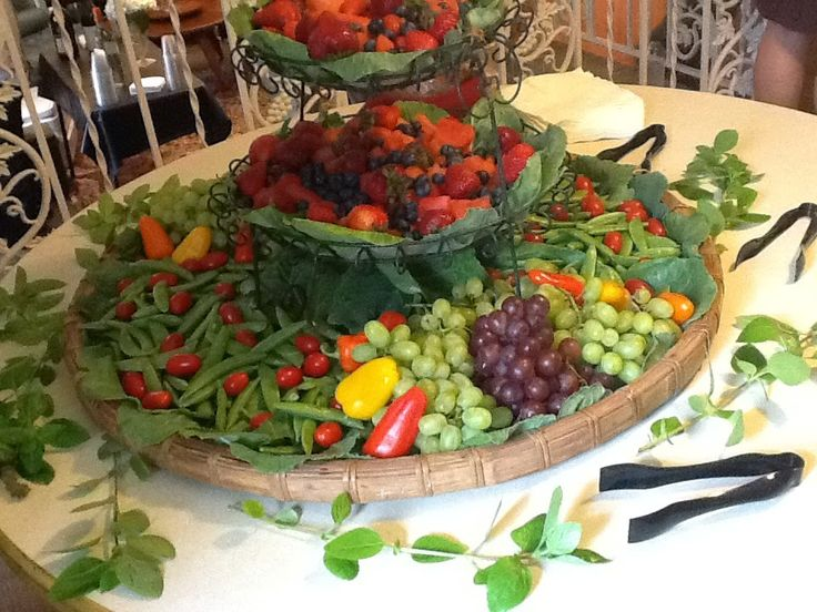 Waterfall Fruit And Veggie Displays: 1000+ Images About Catering On Pinterest