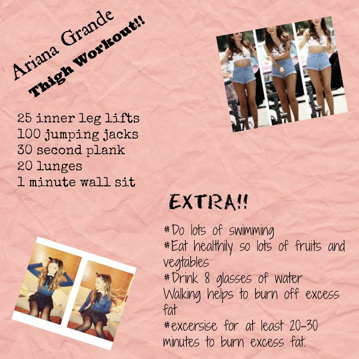 I made this Ariana Grande inspired workout for your thighs!