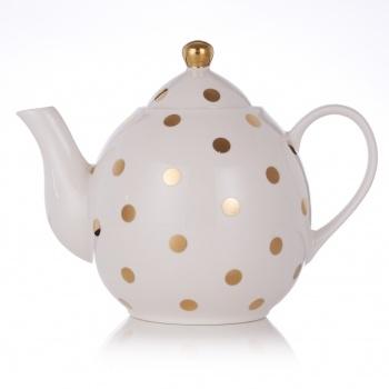 Miss Etoile Gold Polka Dot Ceramic Tea Pot | Engagement Gifts & Presents | Unique, Unusual Engagement Gift Ideas | By Event | Gift Ideas | Gifts Shop, Unusual Gifts, Unique Gift & Present Ideas | Oliver Bonas - $67.74