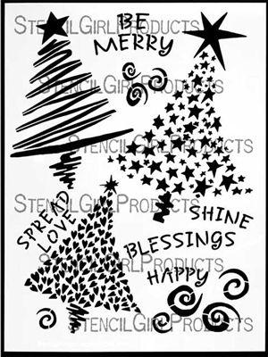 Three Trees Stencil