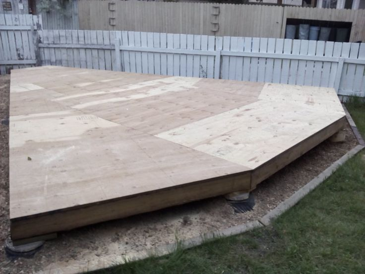 """sheated with 3/4"""" pressure treated plywood."""