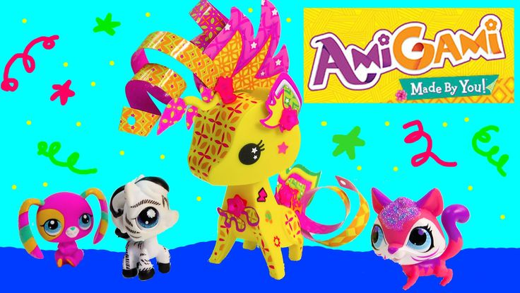 AmiGami Paper Pop Out Styling Craft Giraffe Wild Animal Pet ...