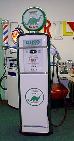 vintage gas pumps | Dino Sinclair Gas Pump : Antique, Vintage, Restored