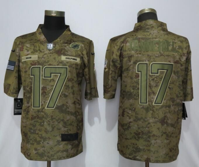 New Men Miami Dolphins 17 Tannehill Nike Camo Salute to Service Limited