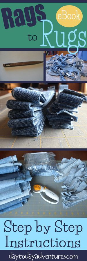 Ever wanted to make a Rag Rug? Use your creativity and design a handmade rug that matches your decor! Rags to Rugs eBook $15.99 - DaytoDayAdventures.com