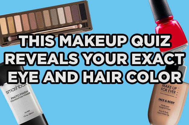 I got Brown eyes; dark/black hair! This Makeup Quiz Reveals Your Exact Eye And Hair Color