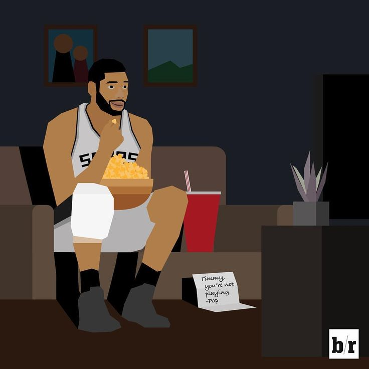 Timmy watching the Spurs/Warriors game tonight