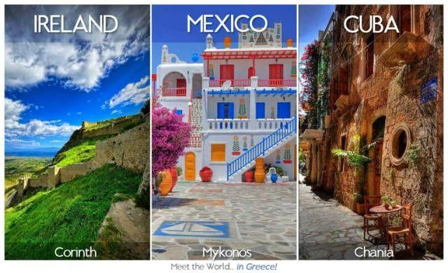 Ireland = Corinth, #Mexico = #Mykonos, #Cuba = Chania. Meet the World... in Greece!