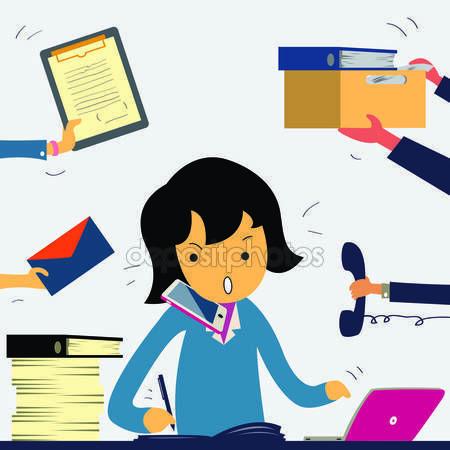 Kobieta bardzo pracowitym — Ilustracja stockowa #34807937