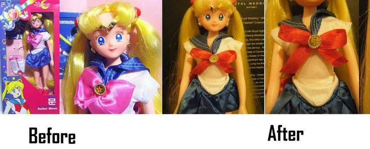 Sailor Moon R Doll OOAK to Original Sailor Moon by SHANNON-CASSUL-LOVER