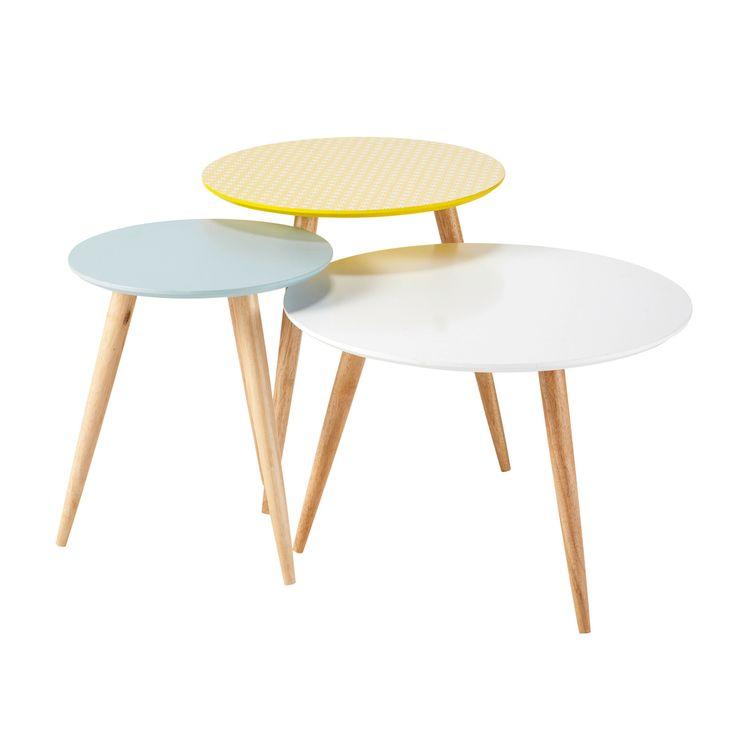 FJORD 3 tables gigognes rondes vintage - Maisons du monde