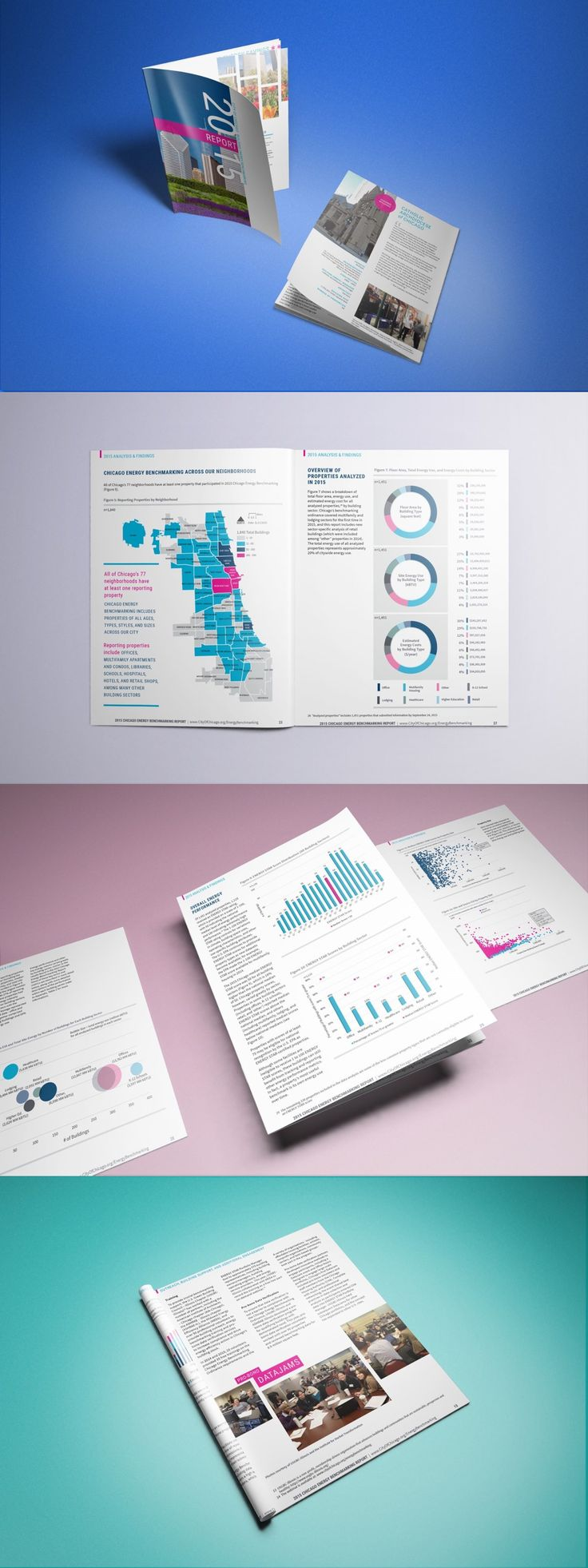 Monday Loves You partnered with the City of Chicago to create their 2015 Annual Benchmarking report.  #ReportDesign #DesignInspiration