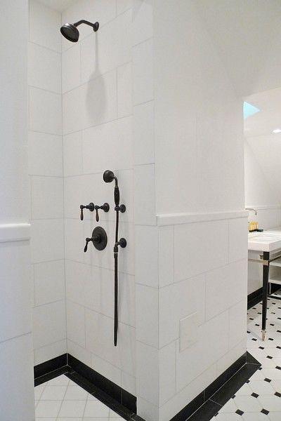 White Bathroom Shower Tile best 25+ white shower ideas only on pinterest   white subway tile