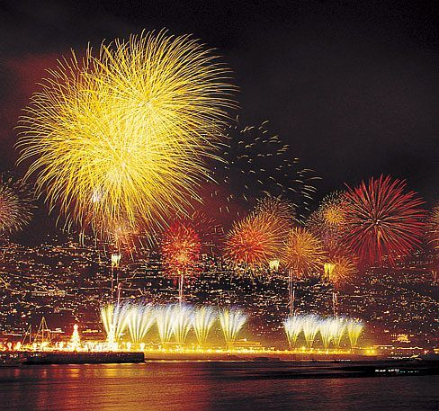 New Year fireworks, Funchal, Madeira