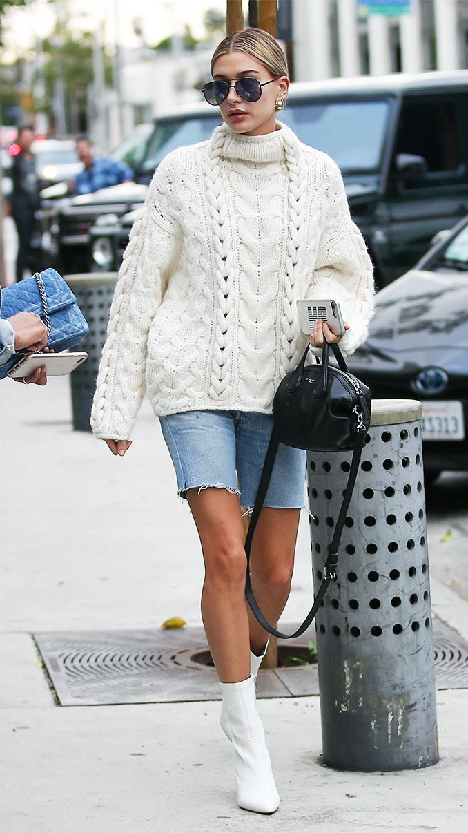 Hailey Baldwin just wore the one denim trend we thought we'd never see grace the fall season, but we are completely on board.