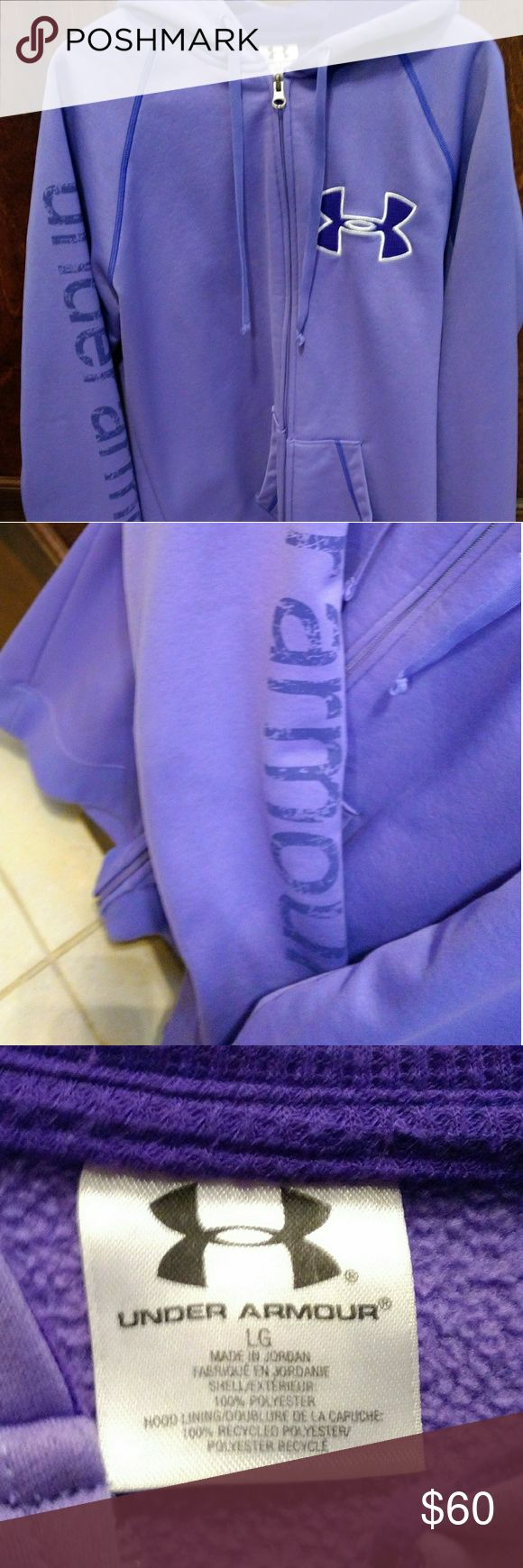 Under Armour Women's Purple Hoodie Authentic UA💜. Comfortable Zip Up with Hood!  Under Armour on Right Arm. Logo to Front Left 💕 Great Condition 💮 Under Armour Tops Sweatshirts & Hoodies