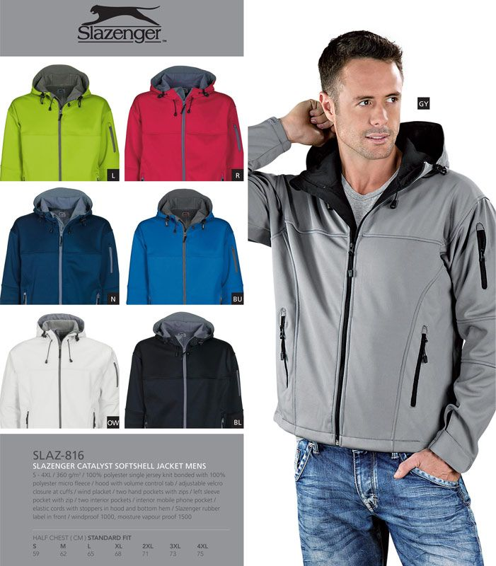 Slazenger Catalyst Softshell Jacket. #jacket #soft #slazenger