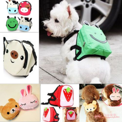 Cute Dog Bag Dog Backpack Carrier Harness Saddle Bag leash Backpack For Pet Dog | eBay