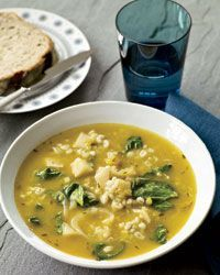 """Nordic Winter Vegetable Soup Recipe from Food & Wine. Trina Hahnemann calls the root vegetables in this simple vegetarian soup the """"gold of Nordic soil"""" because they're high in nutrients and grow well in cold climates. Vegan"""