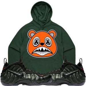 4677cf7cb2c Baws Hoodie ORANGE BAWS Dark Green Sneaker Hoodie - Sequoia Foamposites
