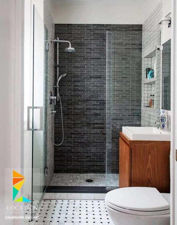 ديكورات حمامات صغيرة المساحة 50 تصميم حمامات مودرن بأفكار رائعة جدا Cheap Bathroom Remodel Small Bathroom Remodel Simple Small Bathroom Designs