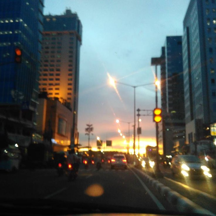 The sunset earlier this evening was much prettier than this blurry shot though