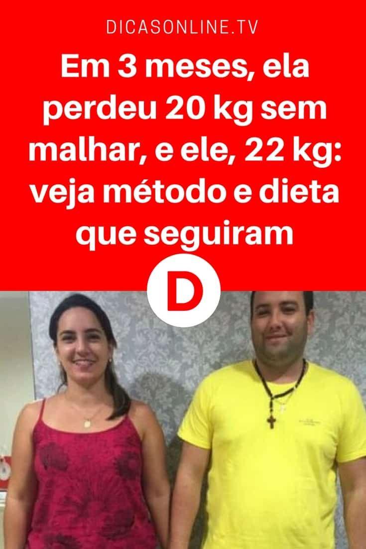Perder 20 Kilos Em 3 Meses Ela Perdeu 20 Kg Sem Malhar E Ele
