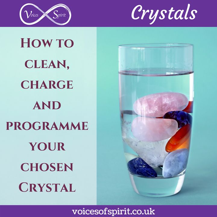 How to clean charge and programme your chosen Crystal Always allow your intuition to help you choose the right crystal. You may know the type of crystal you need in which case pick up several and purchase the one that feels right in your hand and your heart. If you are unsure which crystal you need close your eyes for a few moments when you open them allow your glaze to naturally fall on the crystals your eyes will be drawn to the crystal you need. Again if there is a collection of the same…