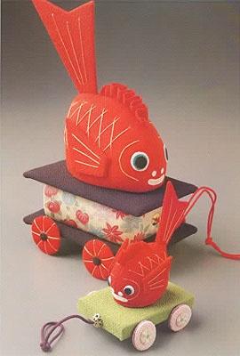 ちりめん細工 金魚