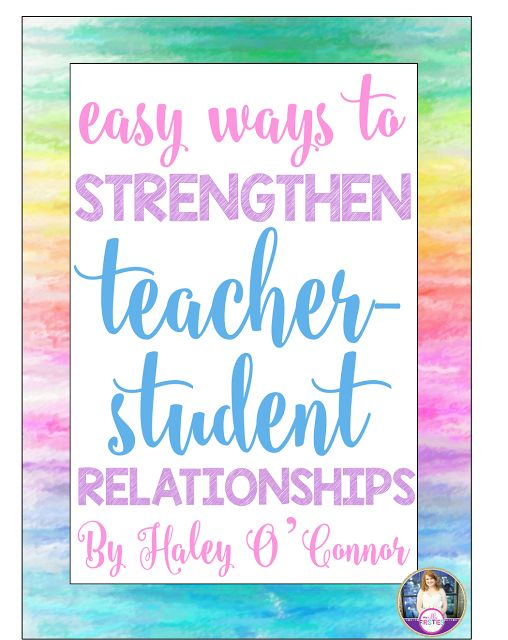 Easy Ways to Build Relationships With Your Students:  This reinforces some of the ways presented by Spencer Henry.  Although this was intended for teachers of younger students, many of the ideas will work for my purposes.