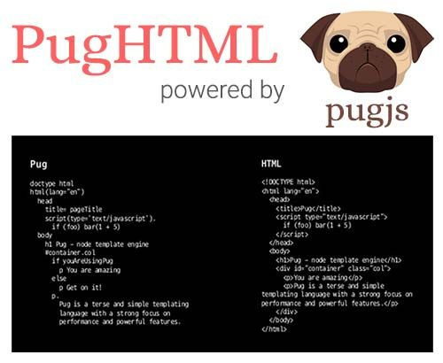 Online Pug and HTML converter  Easy to switch between HTML