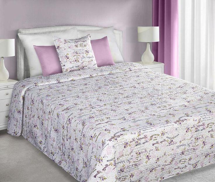 Prošívané přehozy na postel s motivem růžiček