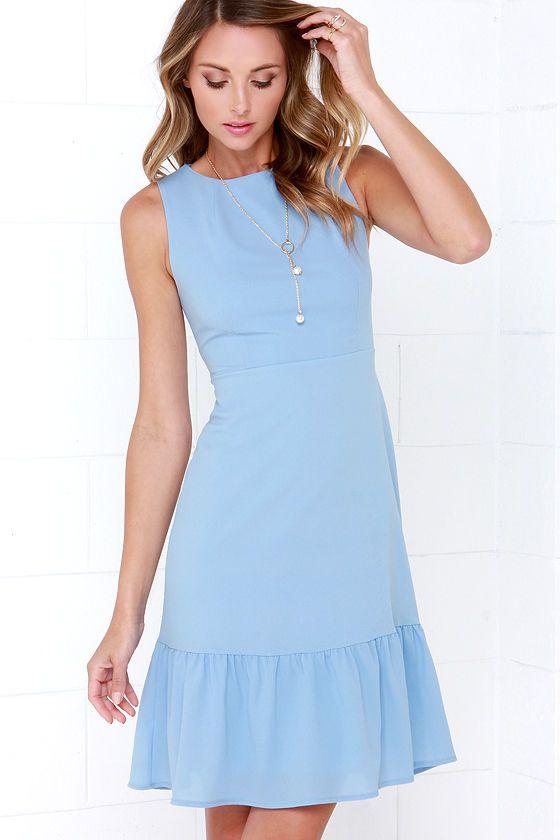 Dee Elle Ooh La La Light Blue Midi Dress at Lulus.com!