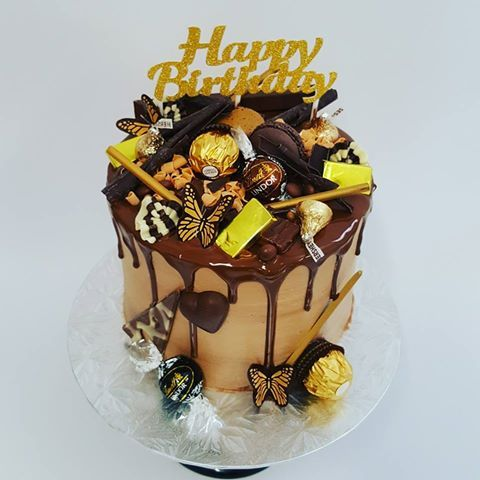 Chocolate Overload with Butterflies and overload toppings