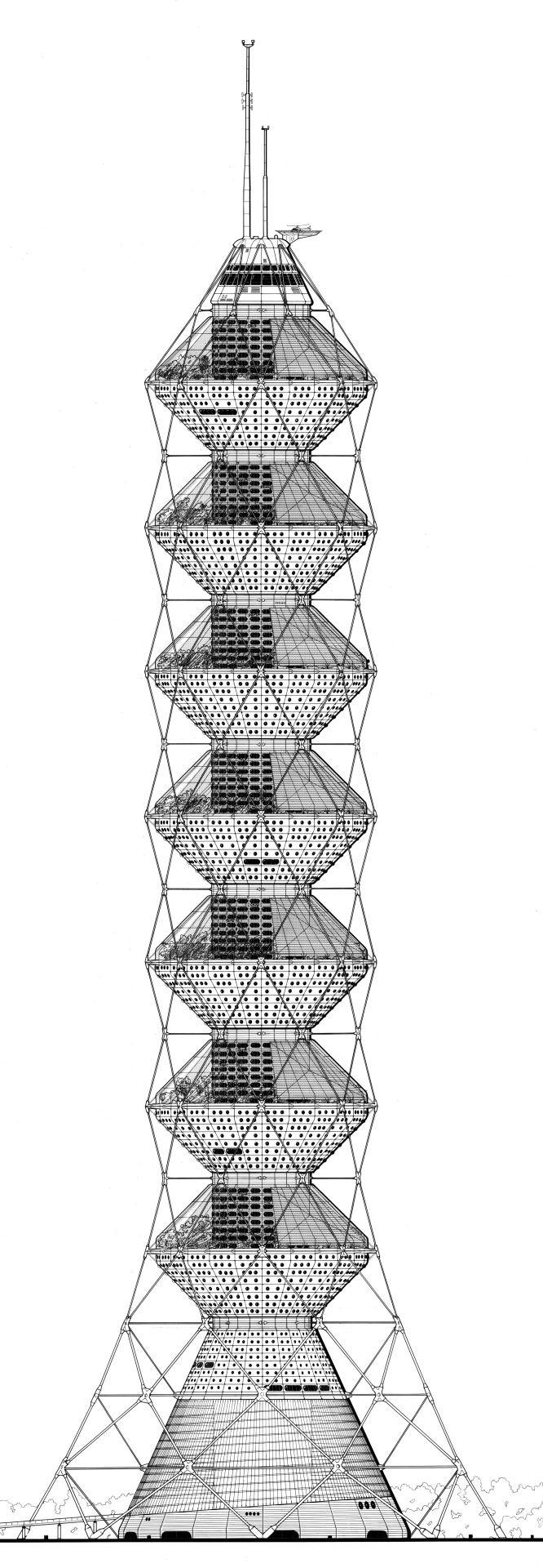 Future Systems (Jan Kaplický, Amanda Levete & David Nixon)   Torre Coexistence   Nueva York, Estados Unidos   1984