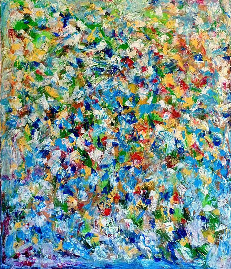 Colours of the soul/2016 120x120 cm Acrylic on canvas-Lívia Földes
