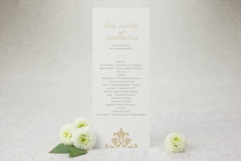 Tea-length Wedding Programs - French Damask | MagnetStreet